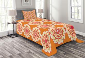 Retro Spirographic Bedspread Set