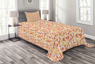 Fall Nature Blossoms Bedspread Set