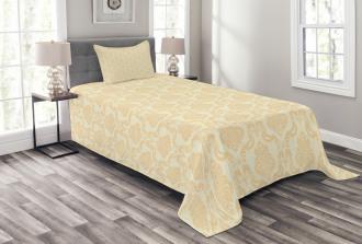 Classical Floral Pastel Bedspread Set