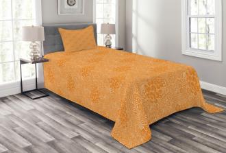 Rococo Floral Foliage Bedspread Set
