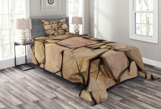 Cottage Stone Wall Bedspread Set