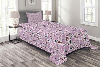 Garden Art Pattern Bedspread Set