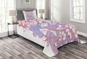Japanese Spring Bloom Bedspread Set