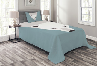 Artistic Flat Design Bedspread Set