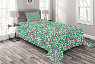 Intertwined Stems Buds Bedspread Set