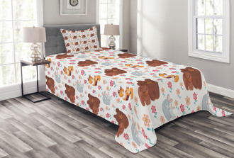 Mothers Day Baby and Mom Bedspread Set