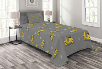Scooters and Stars Bedspread Set