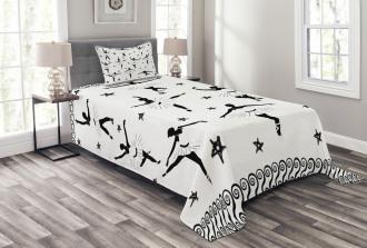 Stars and Hand-drawn Swirls Bedspread Set