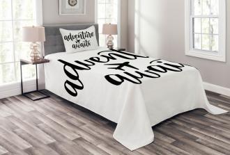 Travel Typography Bedspread Set