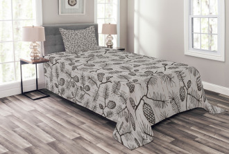 Twigs Spruces Christmas Bedspread Set
