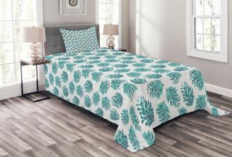 Ornate Botanical Conifers Bedspread Set