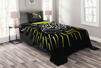 Keep Shining Calligraphy Bedspread Set