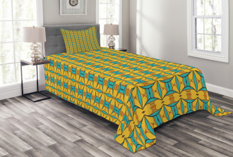 Kaleidoscopic and Ethnic Bedspread Set