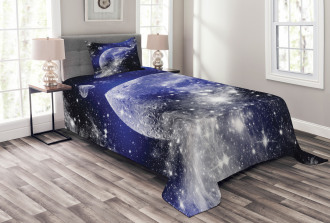 Nebula Galaxy Scenery Bedspread Set