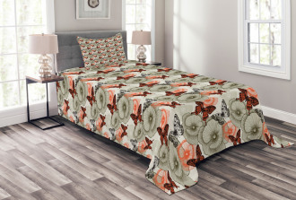 Poppies and Butterflies Bedspread Set