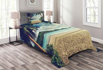 Summer Vintage Tropical Bedspread Set