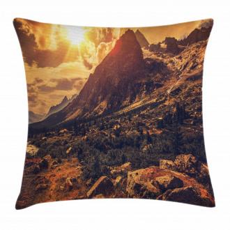 Italian Alps Scenery Pillow Cover