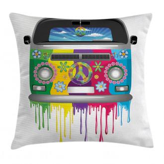Hippie Van Vacation Pillow Cover