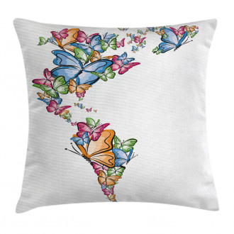 America World Love Map Pillow Cover
