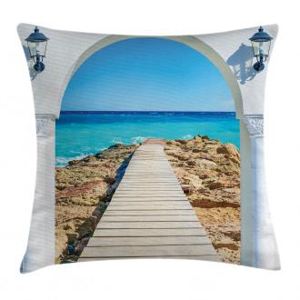 Sea with a Quay Coast Pillow Cover