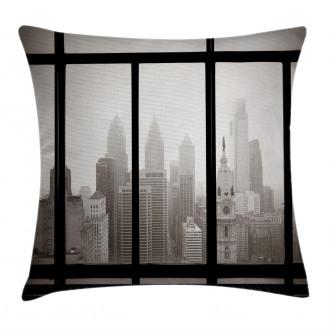 Philadelphia City Roof Pillow Cover