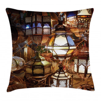 Evening Arabic Lantern Pillow Cover