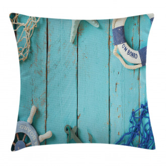 Nautical Ocean Scenery Pillow Cover