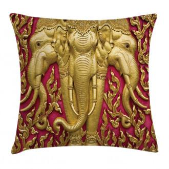 Thai Art Temple Door Pillow Cover
