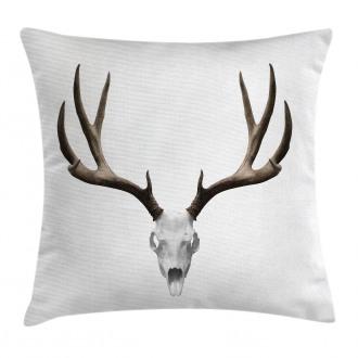 Deer Skull Skeleton Pillow Cover