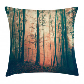 Autumn Forest Woodland Pillow Cover