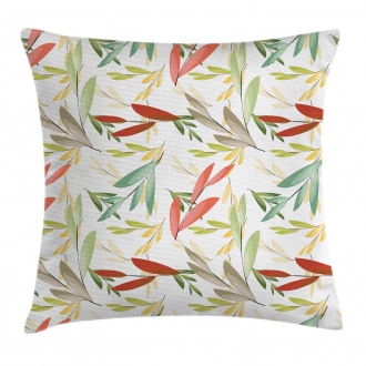 Abstract Modern Leaves Pillow Cover