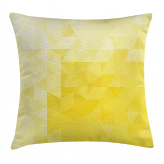Retro Triangles Mosaic Pillow Cover