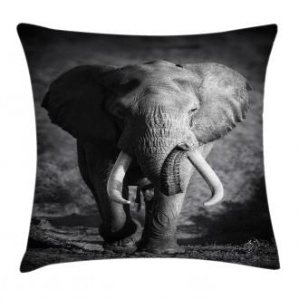 Exotic Wildlife Elephant Pillow Cover