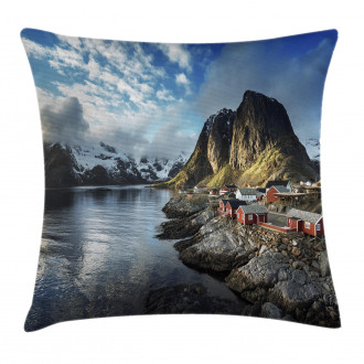 Autumn Rocks and Clouds Pillow Cover