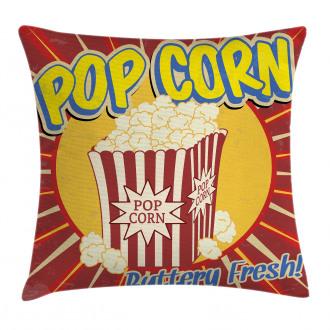 Pop Corn Movie Snack Pillow Cover