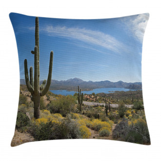Cactus on the Valley Pillow Cover
