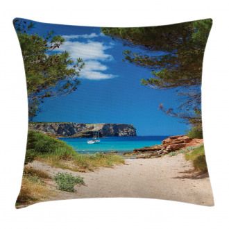 Sand Pathway to Ocean Pillow Cover