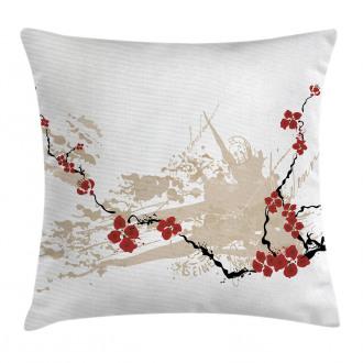 Japan Sakura Flowers Pillow Cover