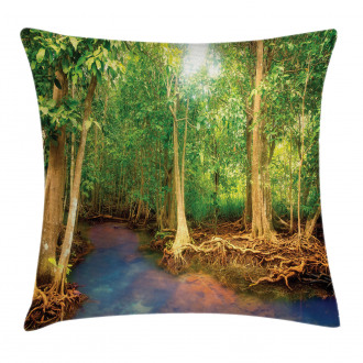 Roots of Mangrove Trees Pillow Cover