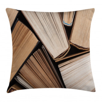 Pile of Old Book Library Pillow Cover