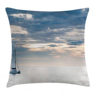 Sailing Yacht Sunset Pillow Cover