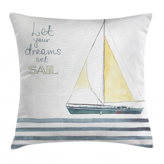 Sailing Travel Pillow Cover