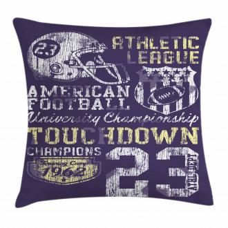 Retro American Football Pillow Cover