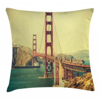 Old Style Bridge View Pillow Cover