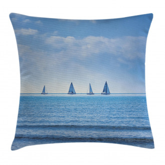 Sailing Boat on Ocean Pillow Cover