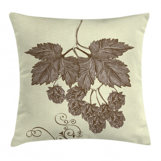 Retro Branch Leaves Pillow Cover