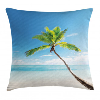 Palm Trees on Caribbean Pillow Cover