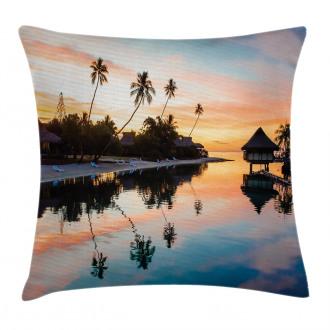 Sunset Moorea Island Pillow Cover