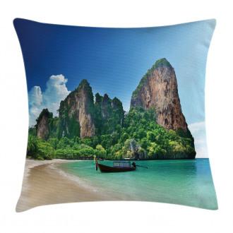 Thailand Rock Cliff Beach Pillow Cover