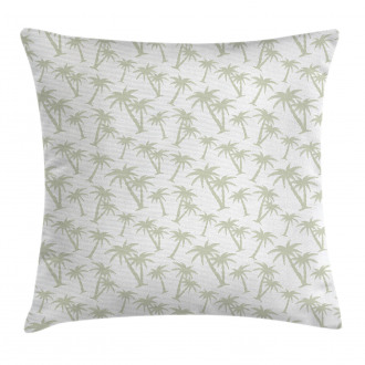 Tropic Coconut Palms Pillow Cover